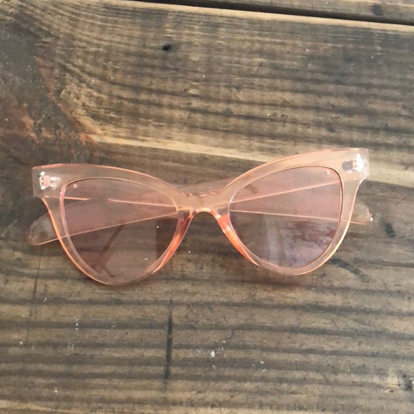 cd2b9e66b0 Accessories - Clear pink cat eye sunglasses